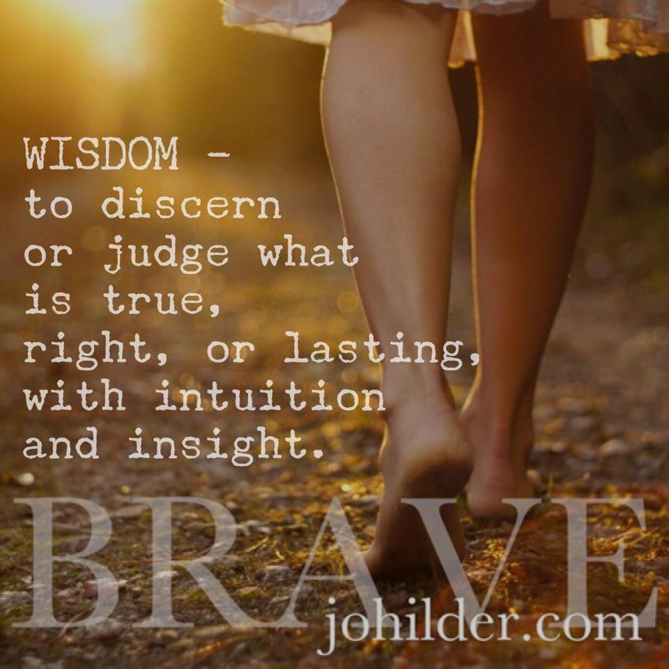 Trusting your inner wisdom is BRAVE.