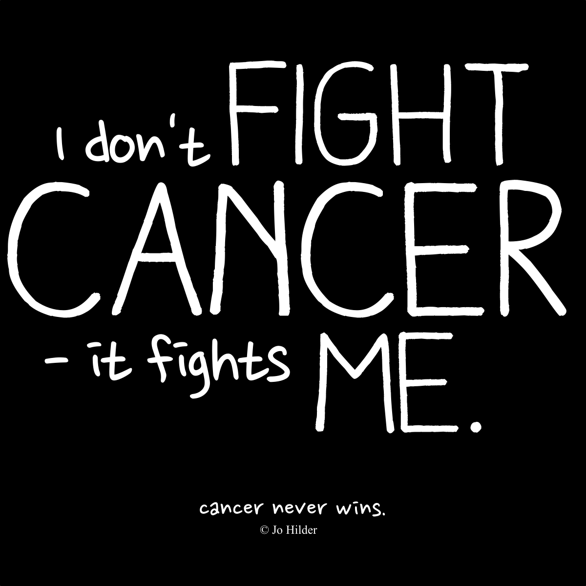 Fight Cancer Quotes Cancer Never Wins  Jo Hilder